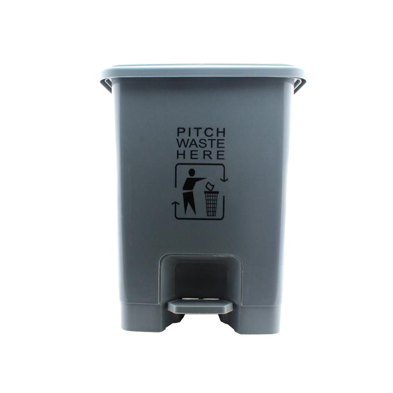 利鑫源(LIXINYUAN) 脚踏生活垃圾桶 15L 灰色 袋装 (1个)