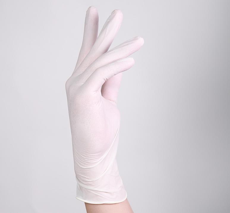 贝佳一 医用检查手套 L号 乳胶手套 无粉 麻面 (100只/盒 ,20盒/箱)产品细节
