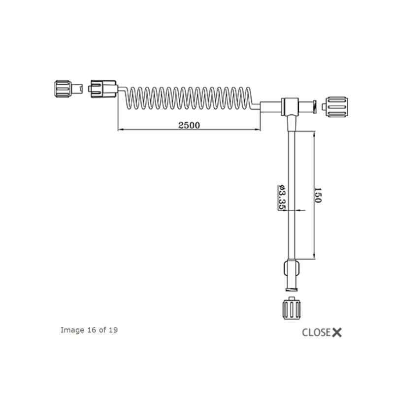 安特高科 一次性使用压力连接管 680304 MRI专用(200根/件)