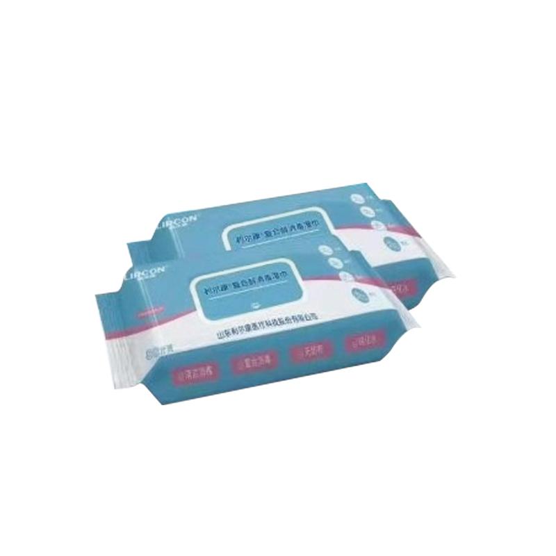 利尔康 LIRCON 复合醇消毒湿巾 80抽 (80片/包 24包/箱)