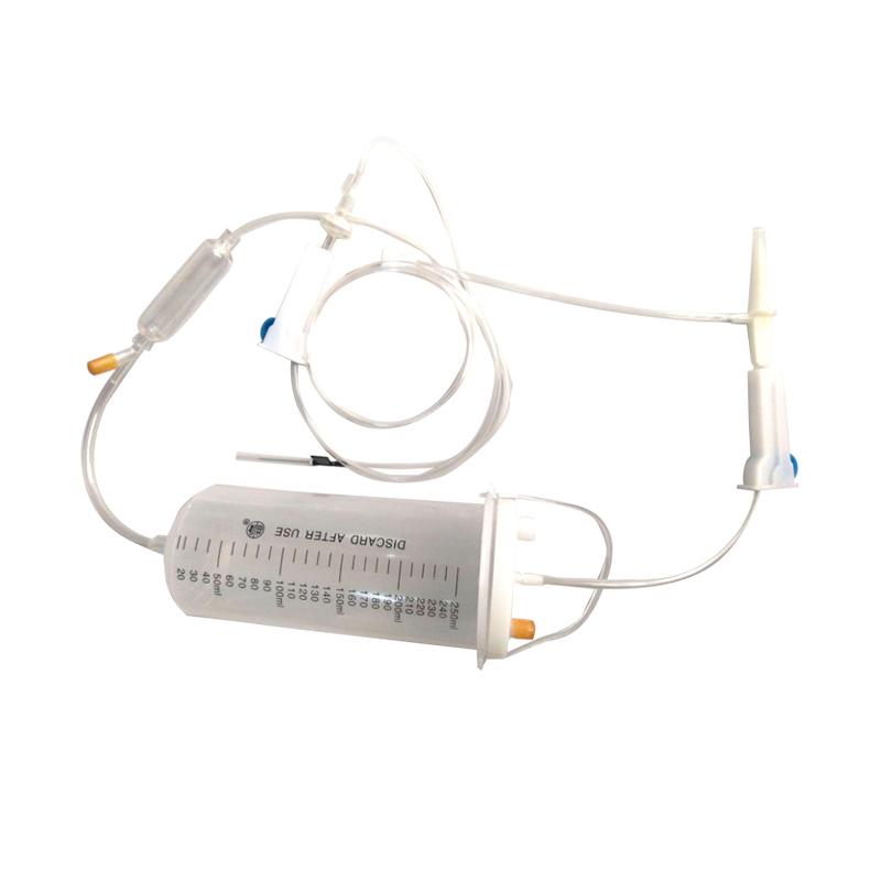 益康 一次性使用吊瓶式输液器 带针 250ml 0.6mm 袋装(5套)