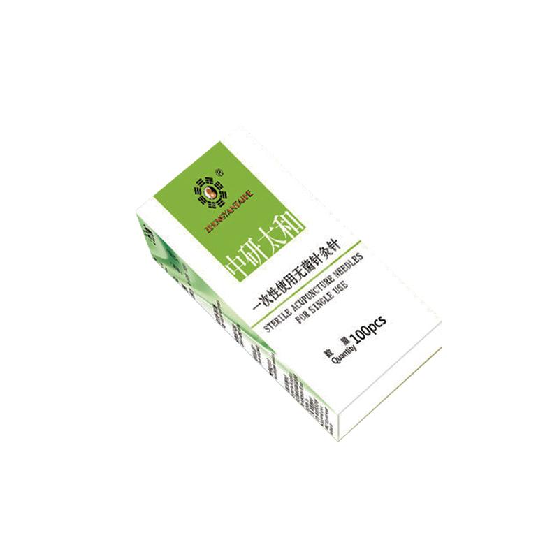 中研太和 一次性使用无菌针灸针 0.22X50 一针一管 (100支/盒)