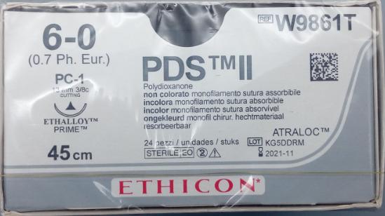 强生 JOSON 合成可吸收性外科缝线 W9861T (24包/盒)