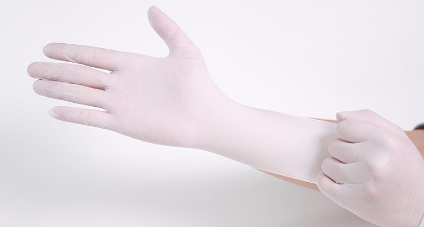 贝佳一 医用检查手套 M号 乳胶手套 无粉 麻面 (100只/盒 ,20盒/箱)产品优势