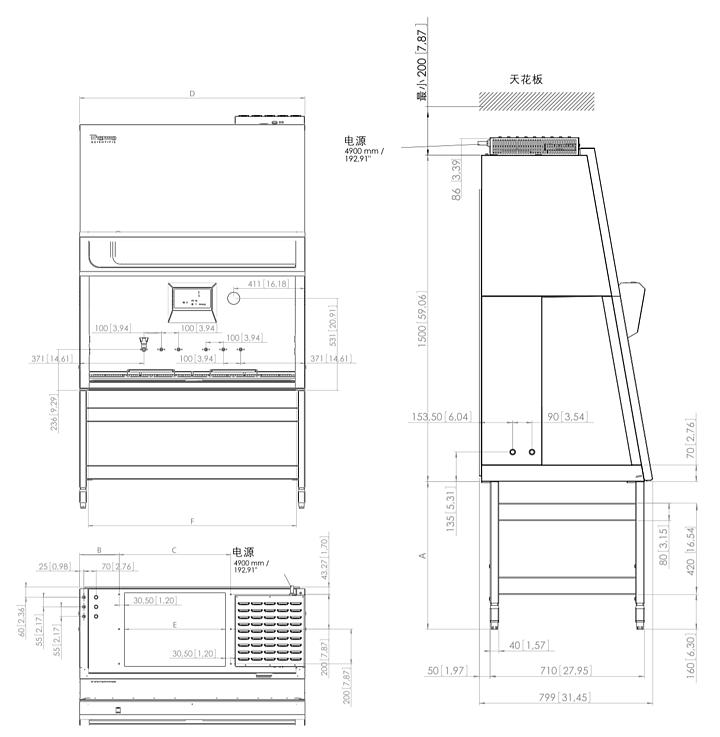 赛默飞世尔 Thermo  KS II级生物安全柜 KS9产品结构