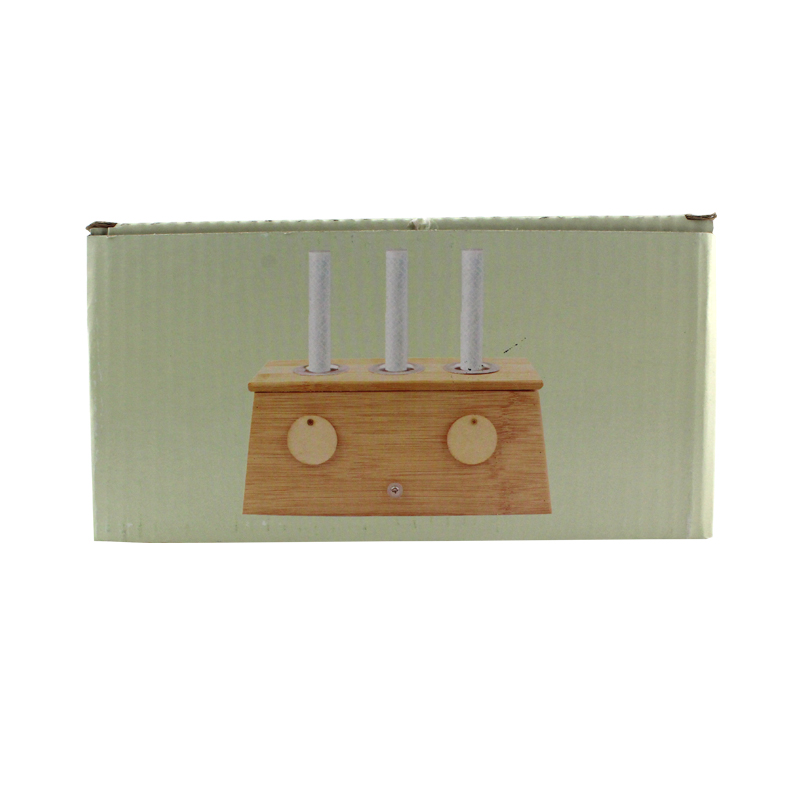 中研太和 艾灸盒 20*9*9cm 竹制三孔 个装(1个)
