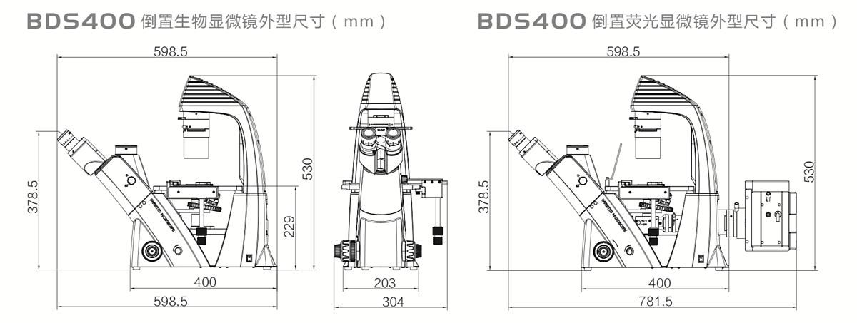 奥特 倒置生物显微镜BDS400产品参数