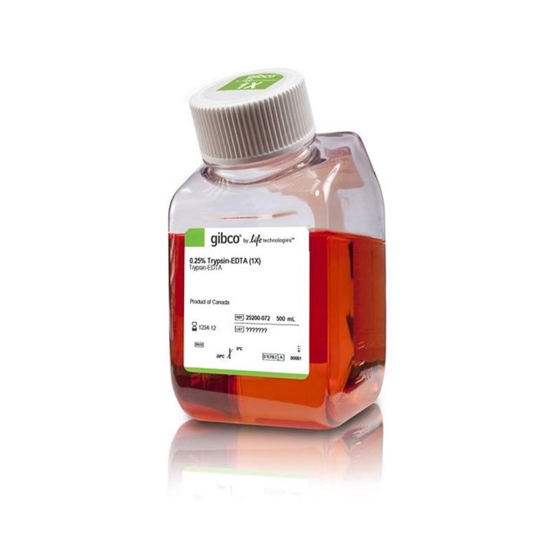 Gibco 胰酶0.25% Trypsin-EDTA 500ml 25200072