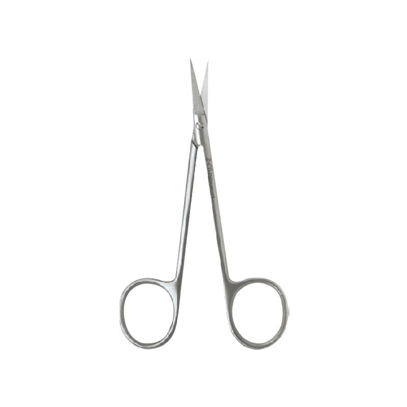 众和天工 有齿精细组织剪 030118(10cm 弯 斜面 钝头)