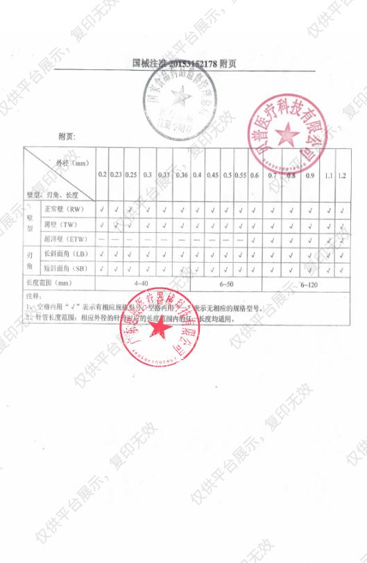 海奥睿 一次性使用无菌注射针 直行侧孔圆头23G×70mmTW蓝色(100针/盒 )注册证