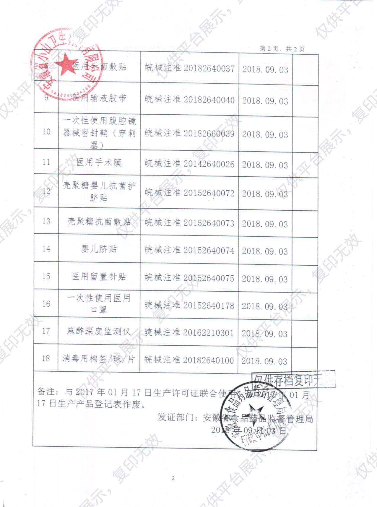 安徽小山 医用无菌敷贴10x20 普通型 (600片/箱)注册证