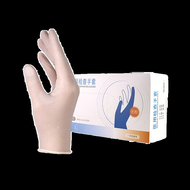 贝佳一 医用检查手套 M  乳胶无粉麻面 (100只/盒 ,20盒/箱)基本信息