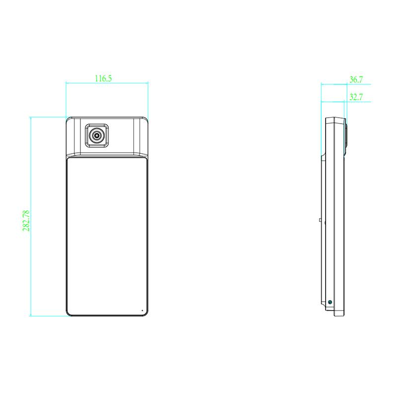 海康威视 壁挂式测温一体机 DS-K1T671TM-3XF