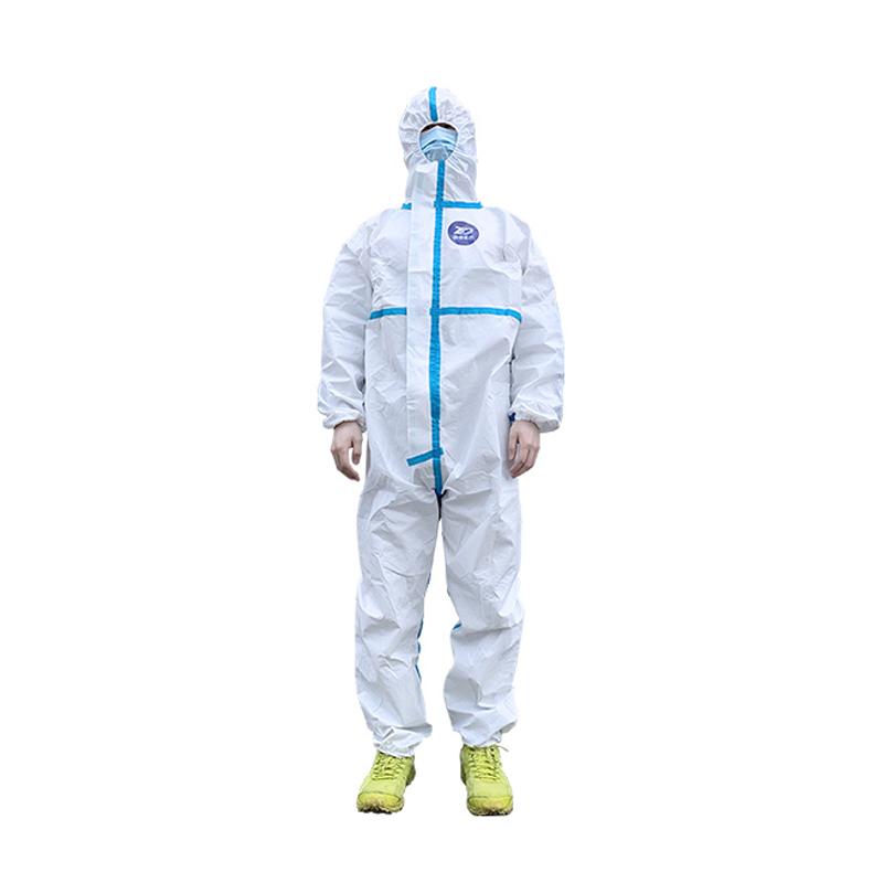 振德 医用一次性防护服 2XL号连身式 185CM 非灭菌型(50件/箱)