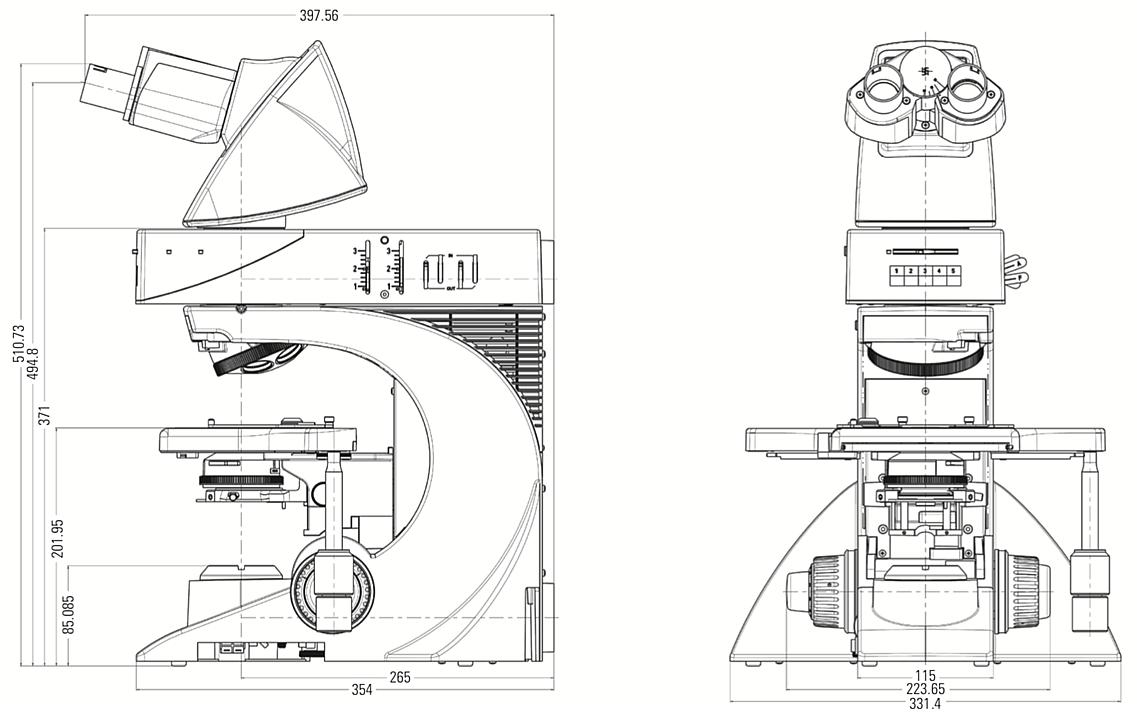 Leica徕卡 DM2500 生物显微镜产品结构