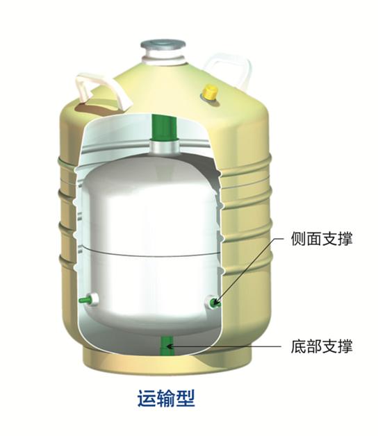 金凤 液氮生物容器贮存型  YDS-1-30产品结构