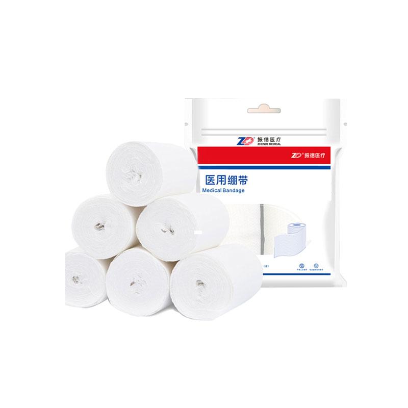 振德(ZD) 医用绷带 纱布型 EO灭菌 无弹性 白色 常规 10cm*600cm 袋装(1卷)