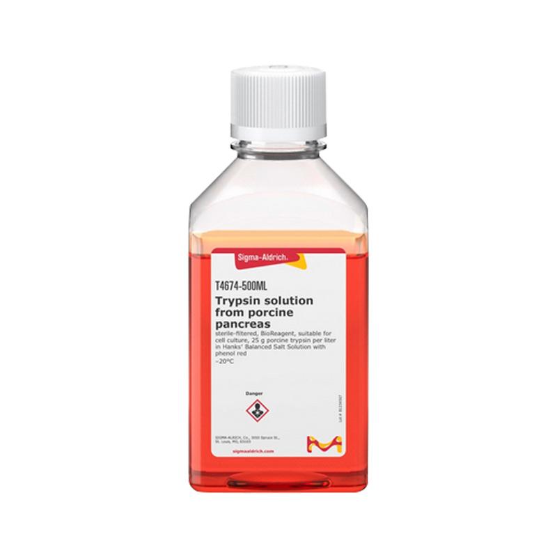 MERK 默克 胰蛋白酶 100ML T4674