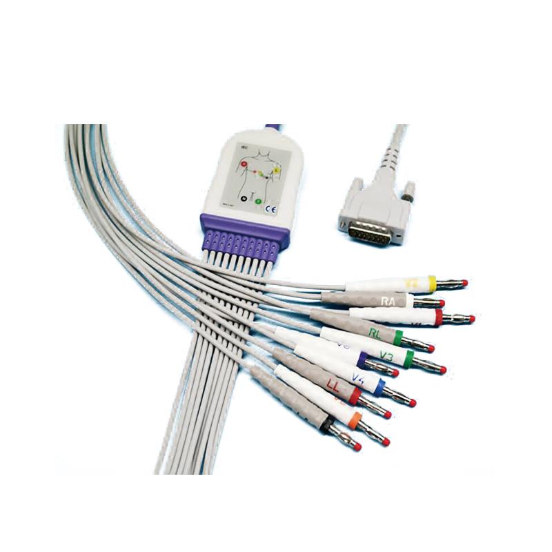 席勒Schiller 心电图机 心电导联线(适用AT-102)